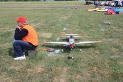 Keith Jackson, GBR, preparing for flight.. -- Keith Jackson, GBR, preparing for flight..
