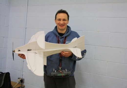 Rob's first competition with his prototype. Should have won, model entered its own scores into the computer, ask Rob