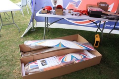 The Axiome biplane kit donated for Clubman with top wing signed by Christophe Paysant-Le Roux
