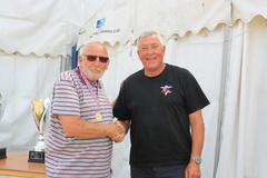 Rob presented our trophies  Bob Ailles, Judge (GBR)